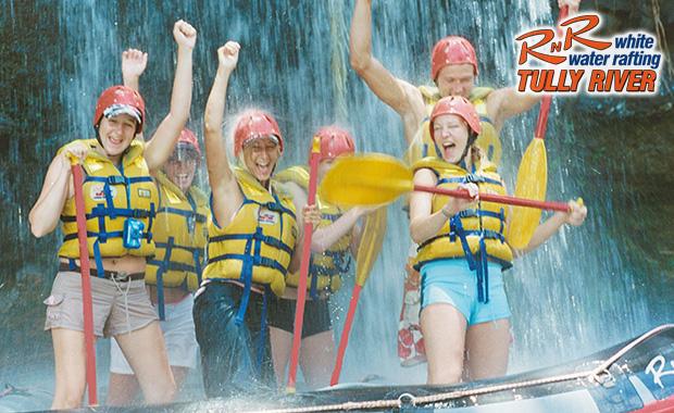 RNR Tully River White Wtaer Rafting Rafting Pony Tail Falls